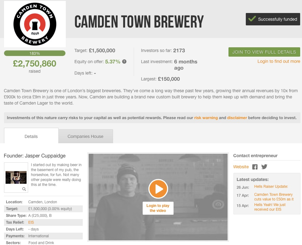 Camden_Town_Brewery_raising_£1_500_000_investment_on_Crowdcube__Capital_At_Risk_