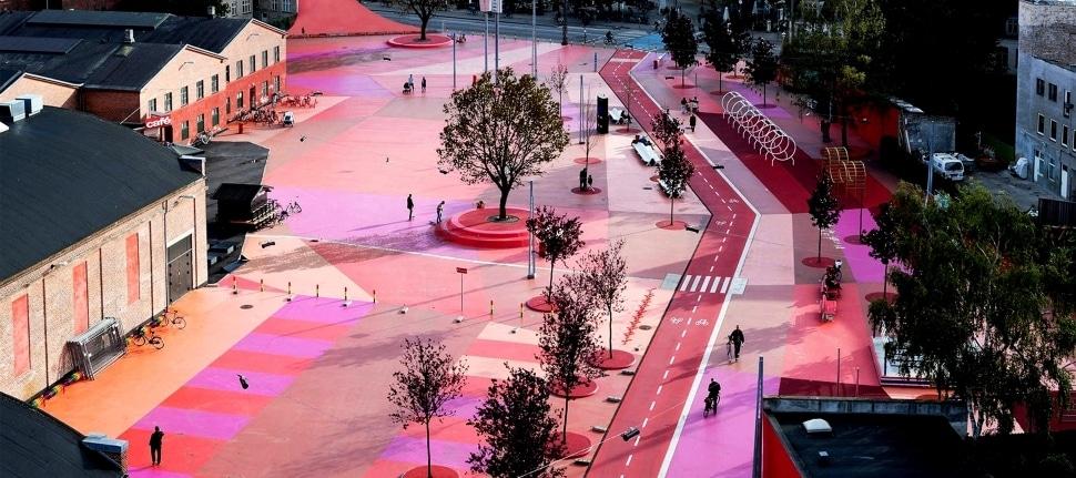 Superkilen urban park was designed with an intense public participation process involving the surrounding community. Image | Visit Copenhagen