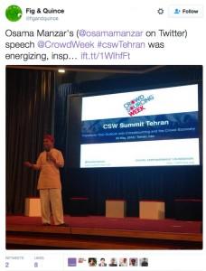 Osama Manzar, CSW Summit Tehran Recap