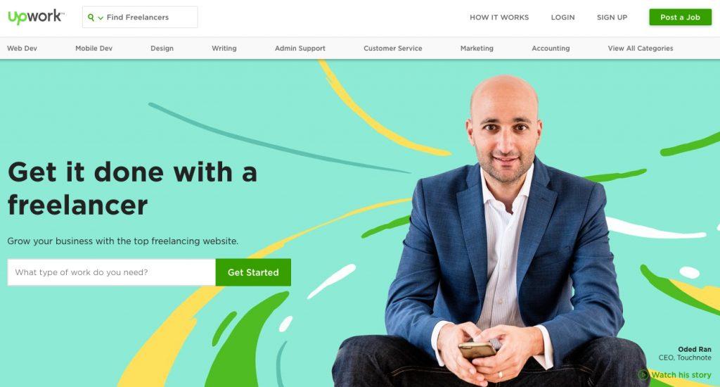 upwork-website-home-page